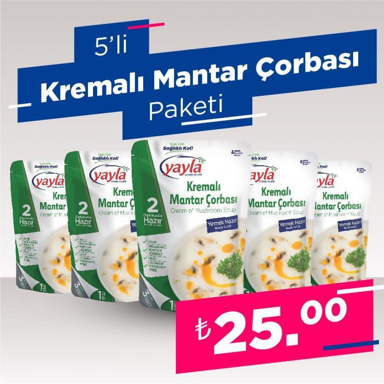 5'Li Kremalı Mantar Çorbası Paketi