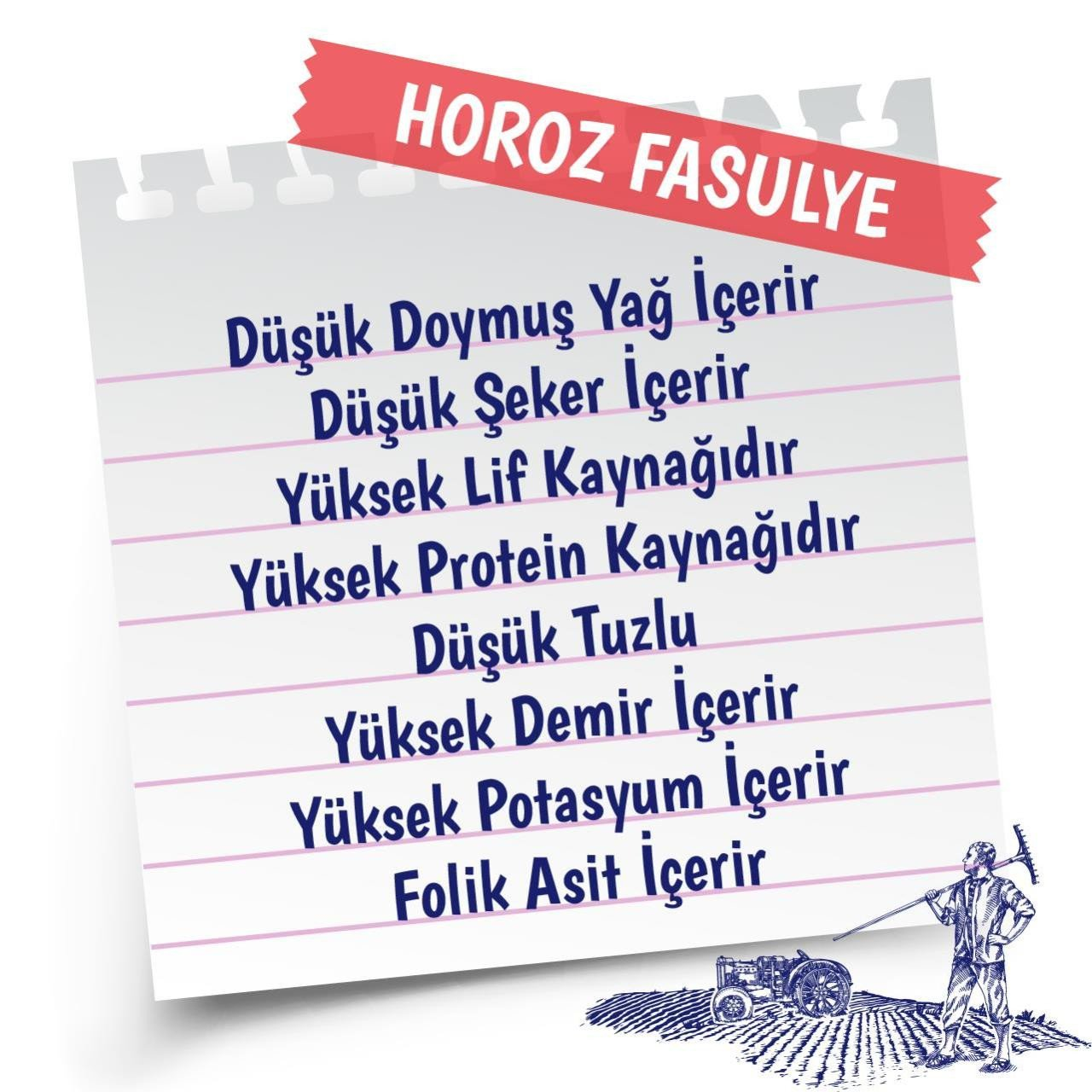 Yayla Horoz Fasulye 1 Kg