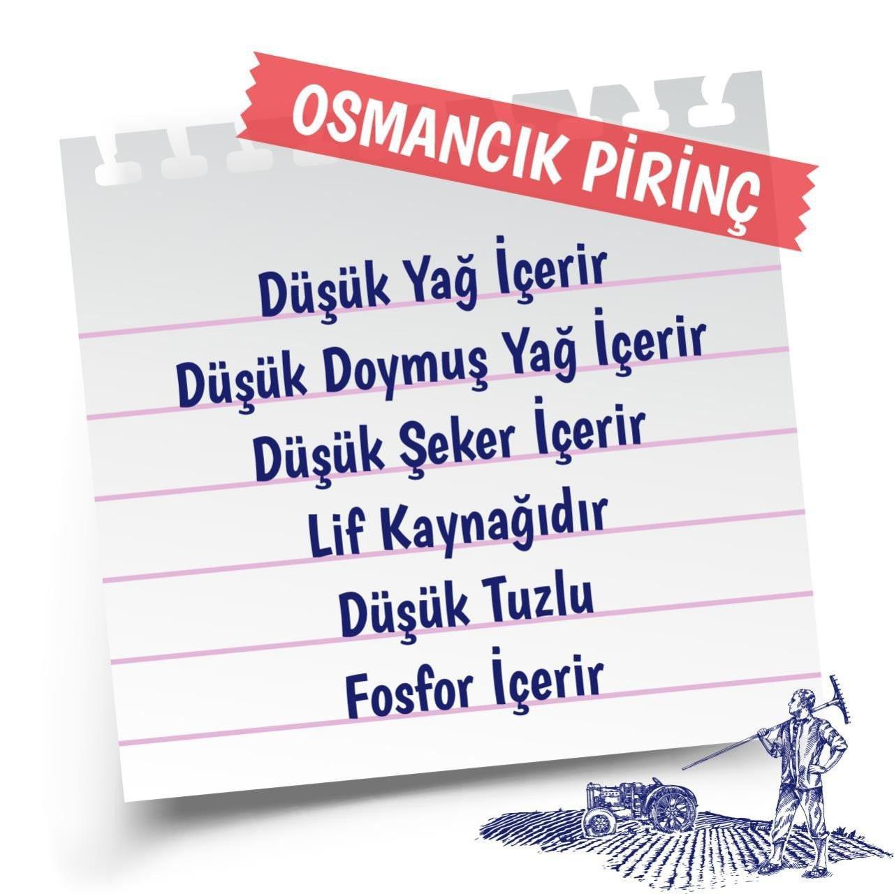 Yayla Yerli Pirinç Osmancık Bölgesi Mahsulü 1 Kg